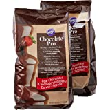 Wilton Chocolate Pro - Melting Chocolate Wafers for Chocolate Fountains or Fondue, Multipack of two 2 lb. bags, 4 lbs.
