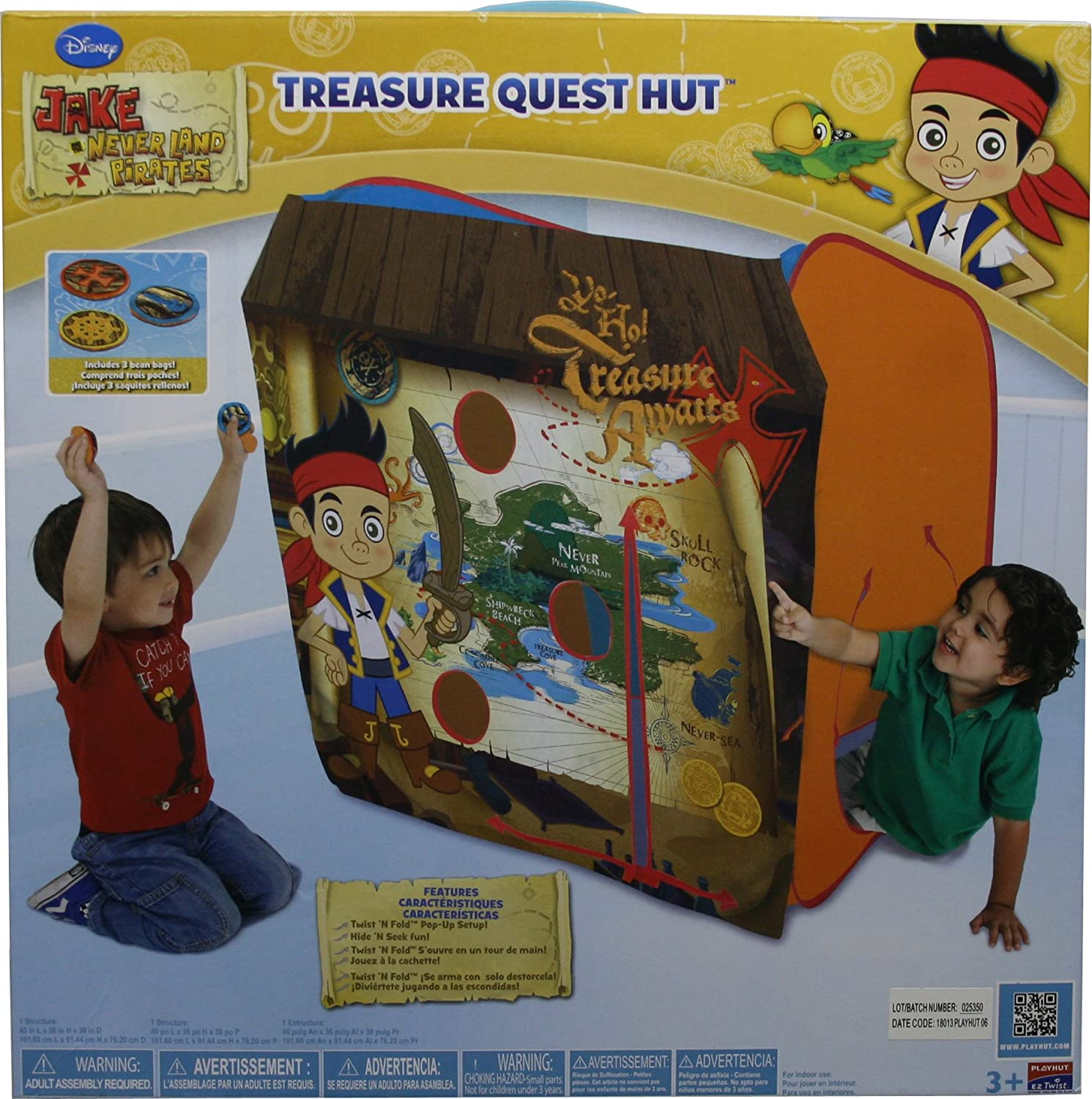 Disney Jake and the Never Land Pirates Treasure Quest Hut B00GHUK2OG