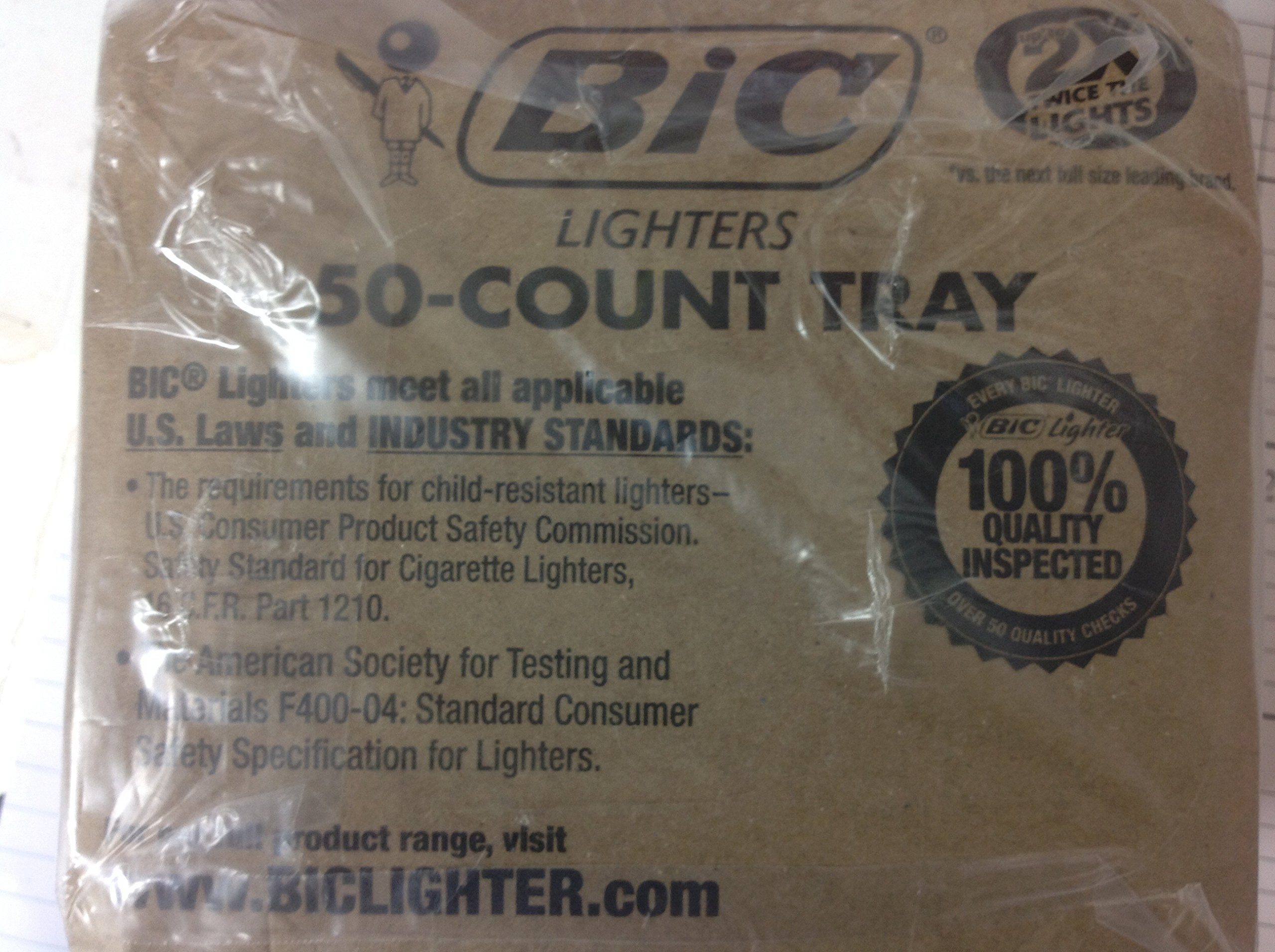 BIC Classic Lighter 50ct Tray Regular Lighter