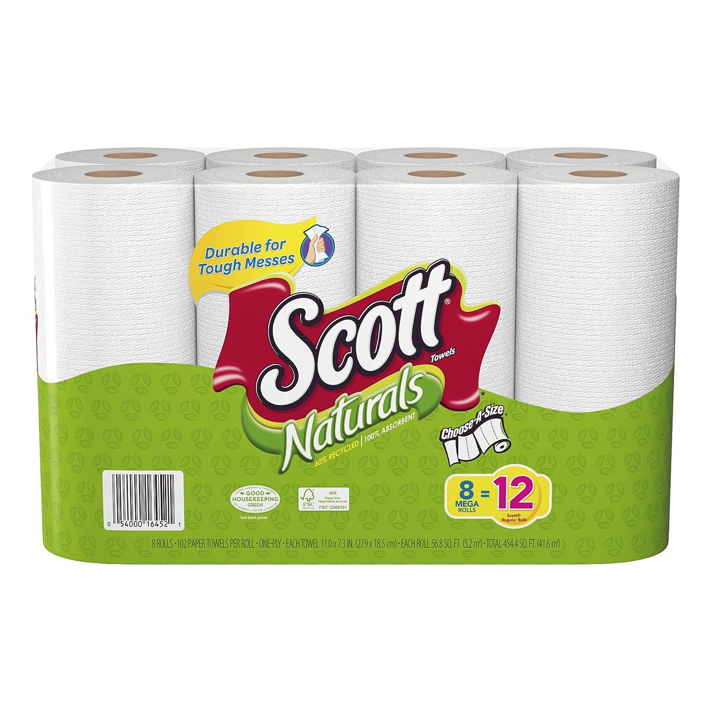 Scott Naturals rollo de papel toallas, Mega, 8 rollos, paquetes de 4 (32 rollos): Amazon.es: Salud y cuidado personal