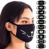 Face Mouth Mask - Cotton Face Covering (10 Pack) - Face Mask Resuable, Washable, Breathable, Adjustable - Adult and…