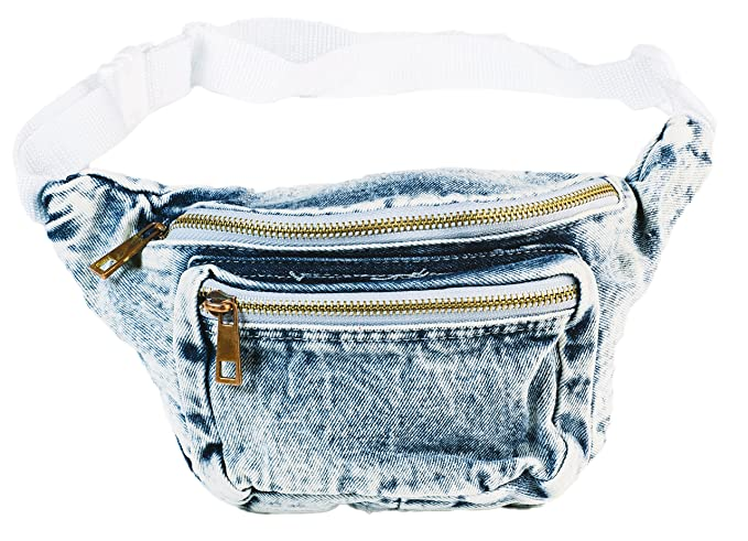 80s Costumes, Outfit Ideas- Girls and Guys Funny Guy Mugs Premium Jean Fanny Pack - Retro Denim Acid Wash Jean Fanny Pack $16.95 AT vintagedancer.com