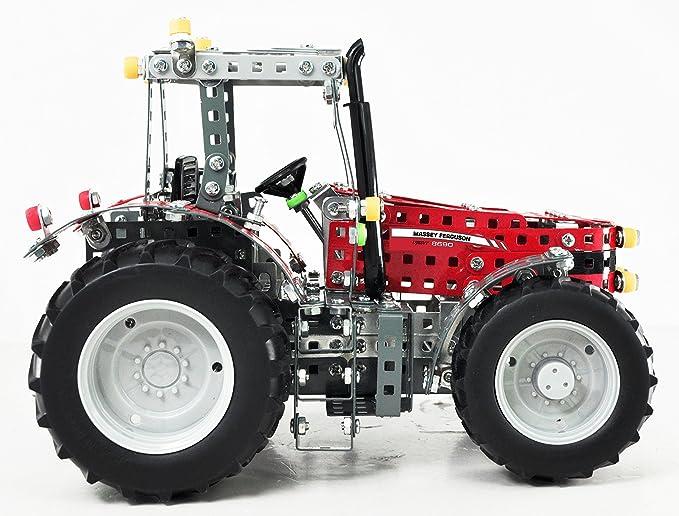 tronico Mecano, Tractor, Massey Ferguson MF de 8690, 1: 16, 1015 piezas, instrucciones de montaje de piñón libre, 4 colores, incluye herramientas, ...