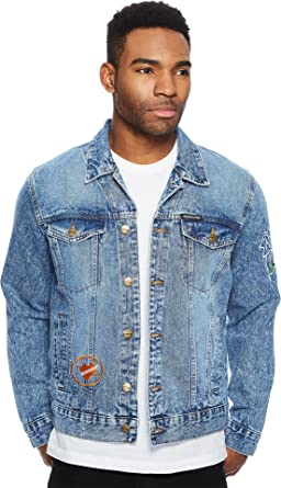 Members Only Men S Rugrats Denim Trucker Jacket Xxl Amazon In
