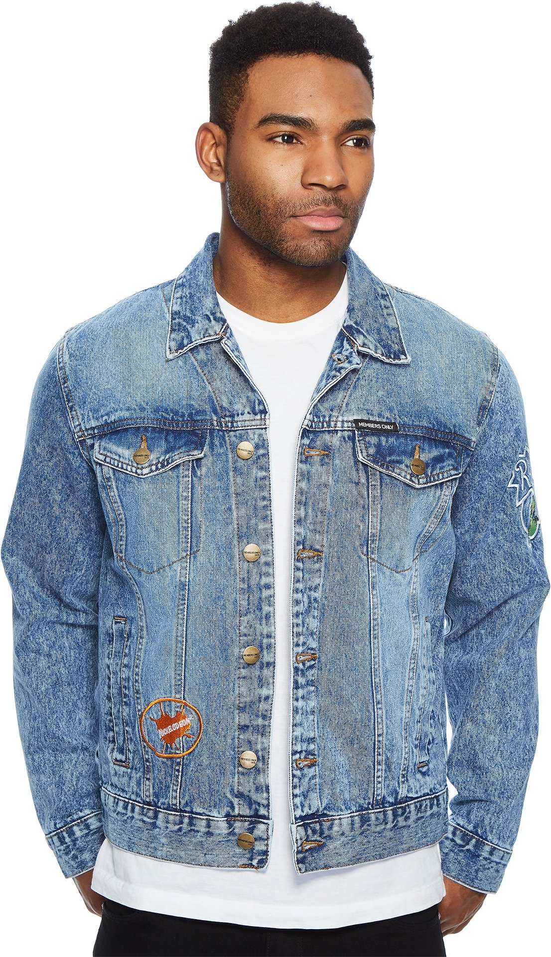 Members Only Men's Rugrats Trucker Jacket, Denim, Small by Members Only