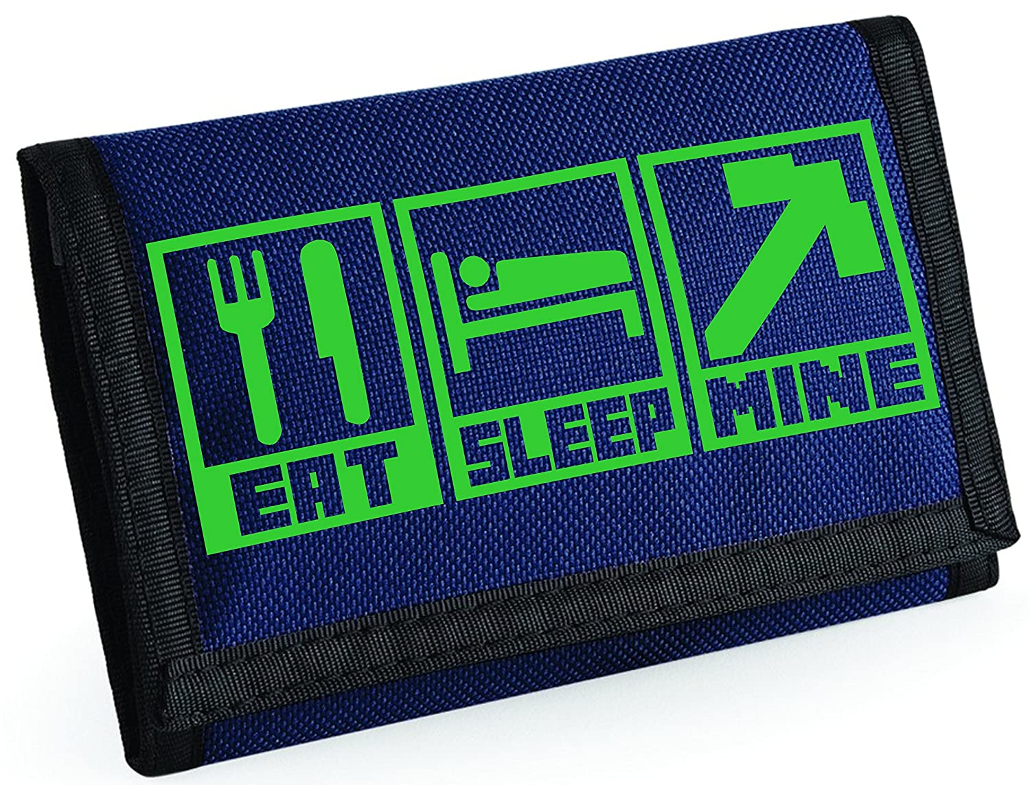 Bullshirt's Eat Sleep Mine Wallet - Kinder Essen schlafen Bergbau Brieftasche Graphit