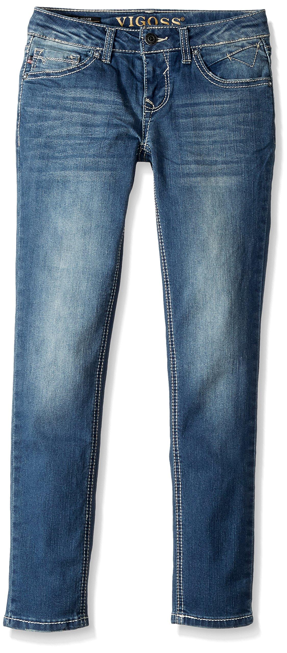VIGOSS Girls' Big Back Pocket Jean, Vespa-445, 14