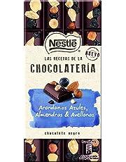NESTLÉ Les Recettes de LAtelier Chocolate Negro Arándanos Azules Avellanas y Almendras - Tableta