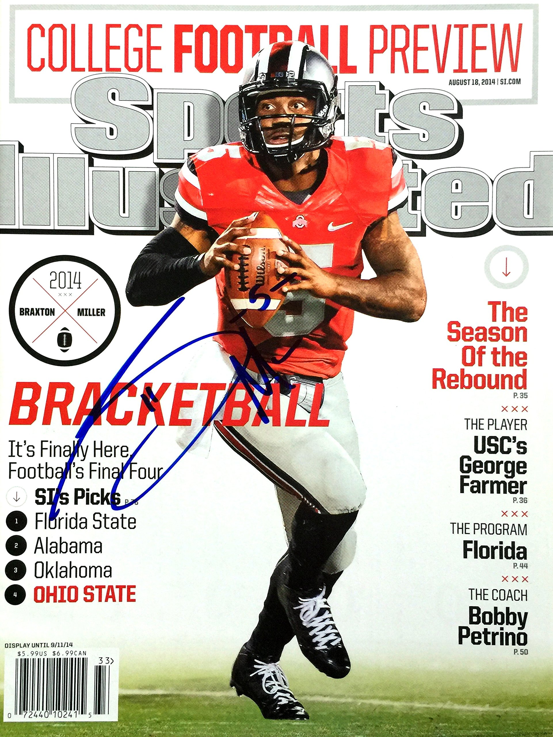 Braxton Miller OHIO STATE BUCKEYES autographed Sports Illustrated magazine 8/18/14