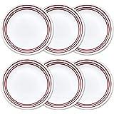 "Corelle Livingware 10.25"" 6-Piece Dinner Plate Set, Ruby Red"