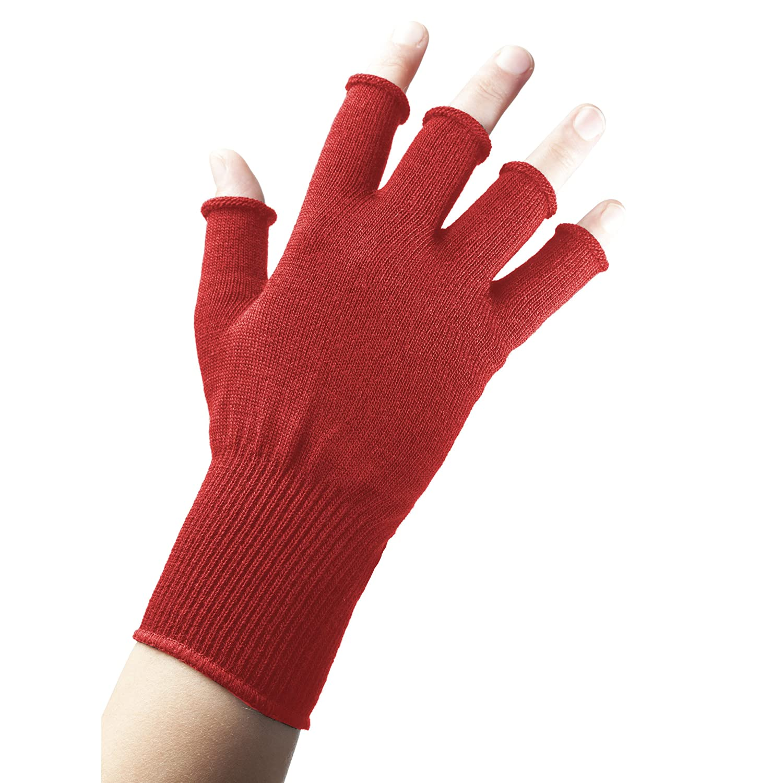 Fingerless gloves for musicians - Edz Merino Wool Fingerless Red Blue Green Thermal Gloves