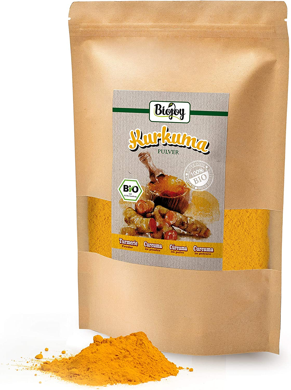 Biojoy Cúrcuma BÍO (Curcuma) en polvo, producida de raíces ...