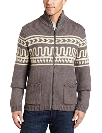 Calvin Klein Mens Fairisle Sweater, Sidewalk Grey, Medium at ...