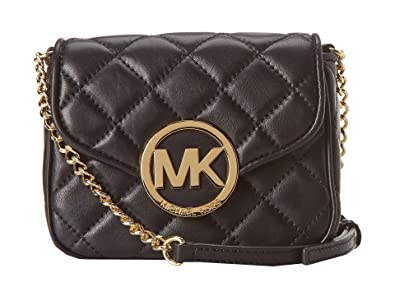 5618104b93538 MICHAEL Michael Kors Fulton Quilt Small Crossbody Black Leather  Handbags   Amazon.com