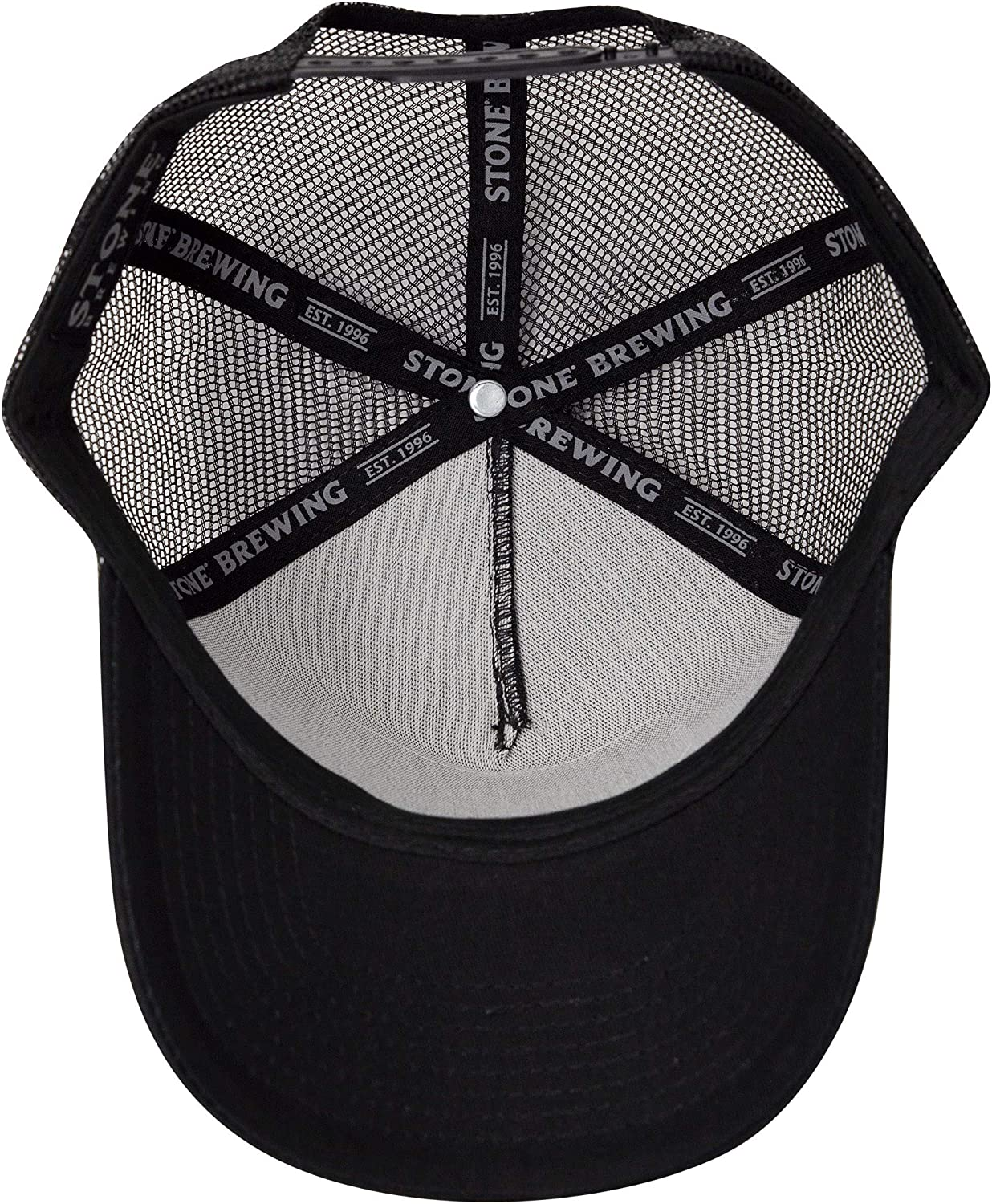 Black America Adjustable Mesh Trucker Snapback Hat Stone Brewing Co
