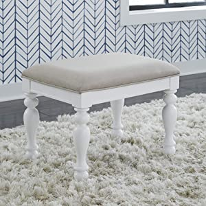 Liberty Furniture INDUSTRIES Summer House I Vanity Stool, Oyster White