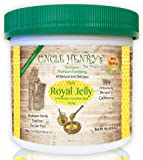 "#1 Best Tasting Royal Jelly, Premium Fresh Farmers Market Quality. Big 1lb Double-Sealed Artisan California Product Creamy Raw Honey. Original Green Lid ""You'll Love it"" Henry's Guarantee"