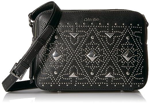 447a485b6777 Calvin Klein Avery Pebble All-Over Pyramid Stud Embellished Camera Bag  Crossbody Cross Body,