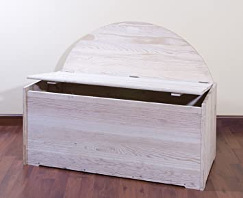 Baule Legno Fai Da Te : Cassapanca con spalliera baule contenitore seduta legno abete cm