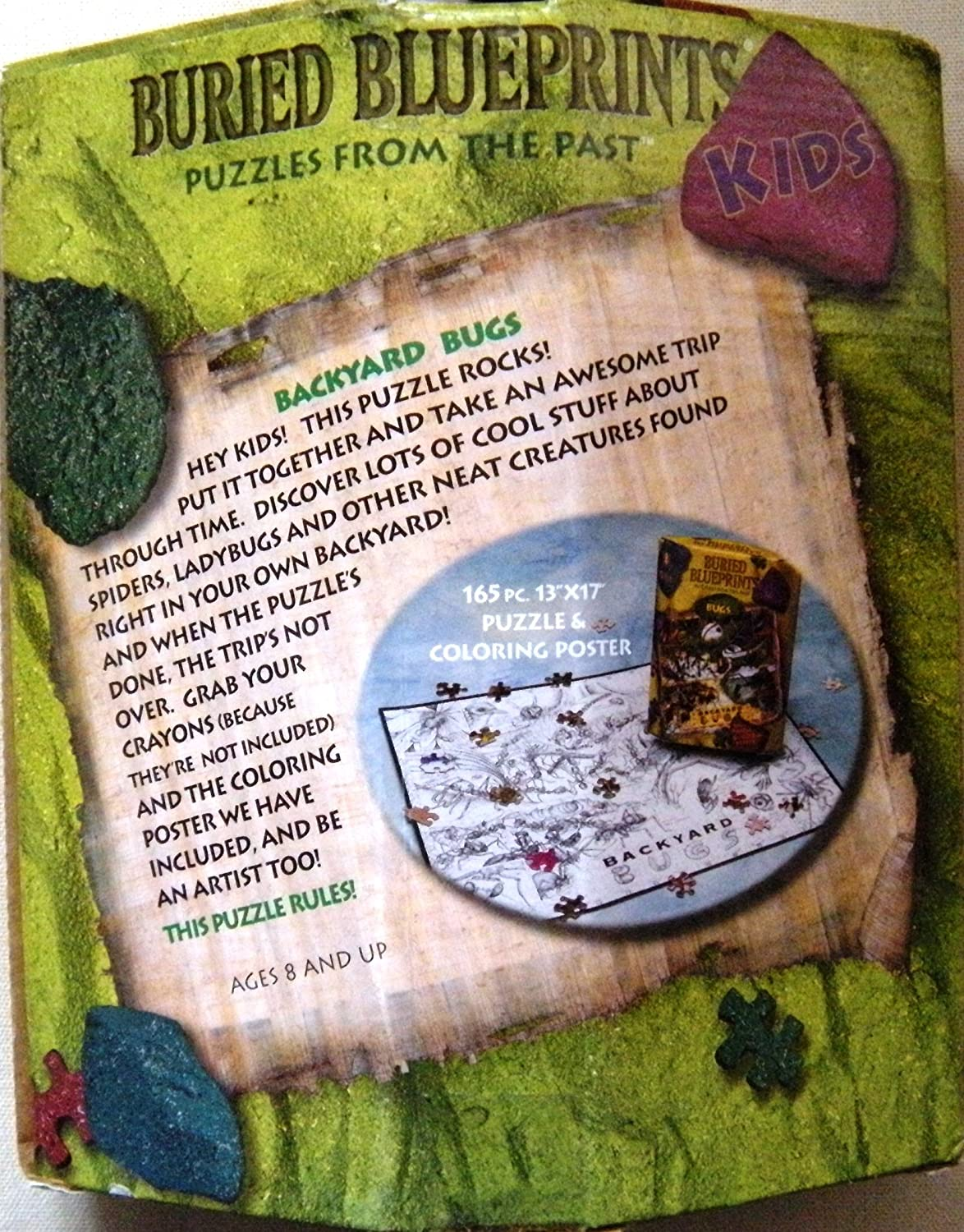 amazon com backyard bugs buried blueprints puzzles from the