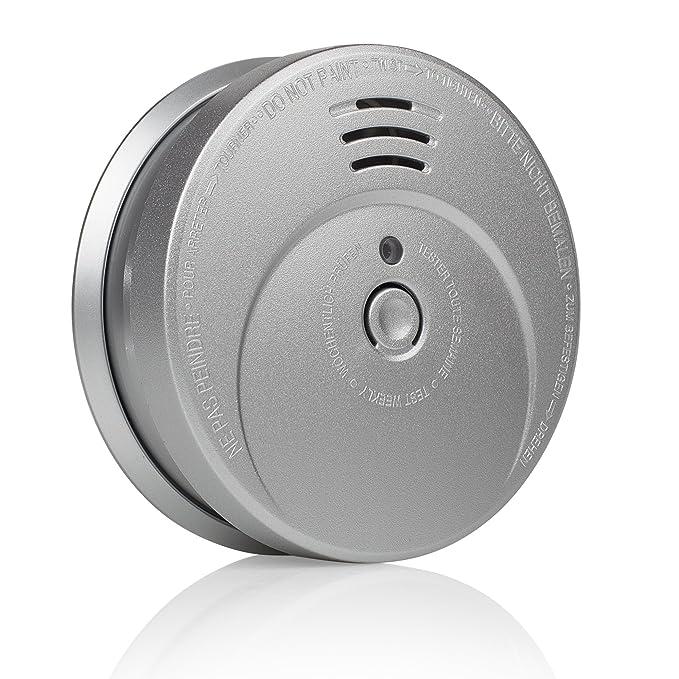 Smartwares RM149A Detector de Humo, Aluminium Optik, 1 Pieza: Amazon.es: Bricolaje y herramientas