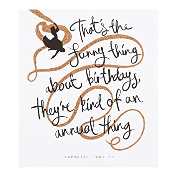 Hallmark Classic Disney Quote Birthday Card Tangled Small