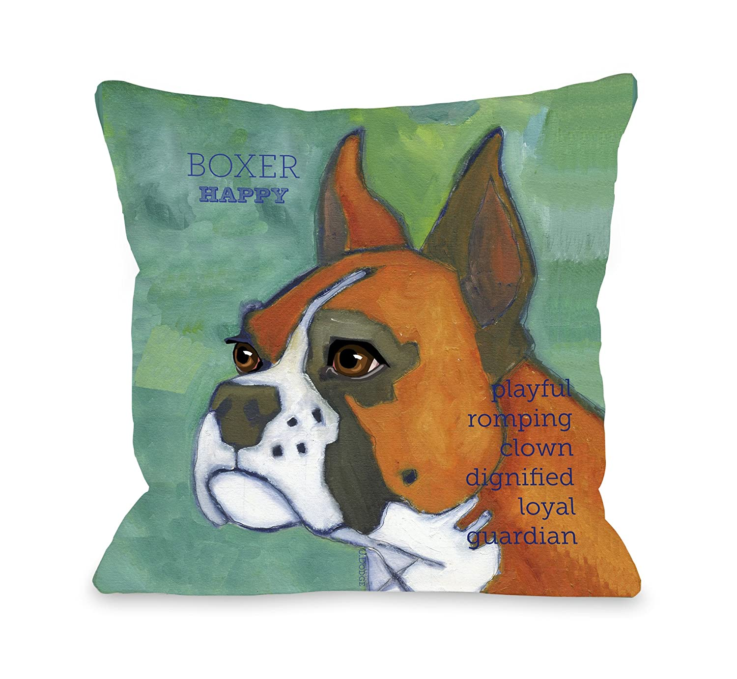 18 by 18-Inch One Bella Casa Boxer 1 Pillow
