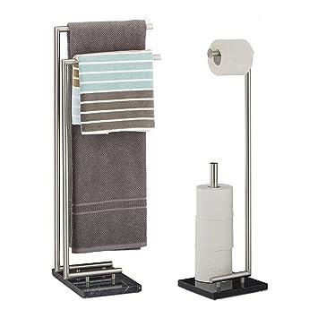 2 tlg. Badezimmer Set PIERRE, Handtuchhalter ohne Bohren ...