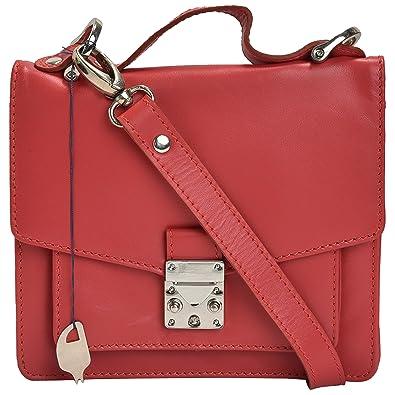 MANDAVA Genuine Leather Women s Mini Satchel Bag Side Bag Sling Shoulder Bag  Ladies Handbag (Red)  Amazon.in  Shoes   Handbags 579481597