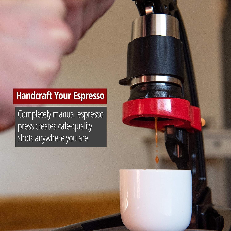 Amazon.com: Máquina de café expreso Flair, Negro y rojo ...