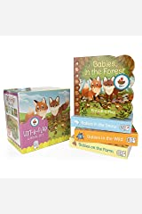 Animal Babies Lift-a-Flap Boxed Set 4-Pack: Babies on the Farm, Babies in the Forest, Babies in the Snow, Babies in the Wild (Chunky Lift a Flap) Board book