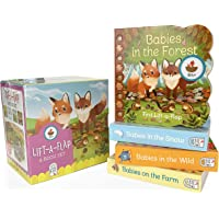 Animal Babies Lift-a-Flap Boxed Set 4-Pack: Babies on the Farm, Babies in the Forest, Babies in the Snow, Babies in the…