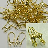 48 Leaver Back Kidney Style Gold-plated Brass 18mm