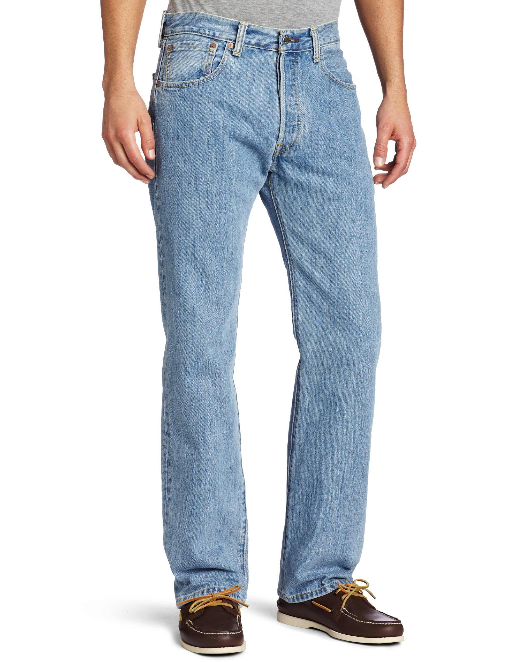 Levi's Men's 501 Original Fit Jean, Light Stonewash, 33X36 by Levi's
