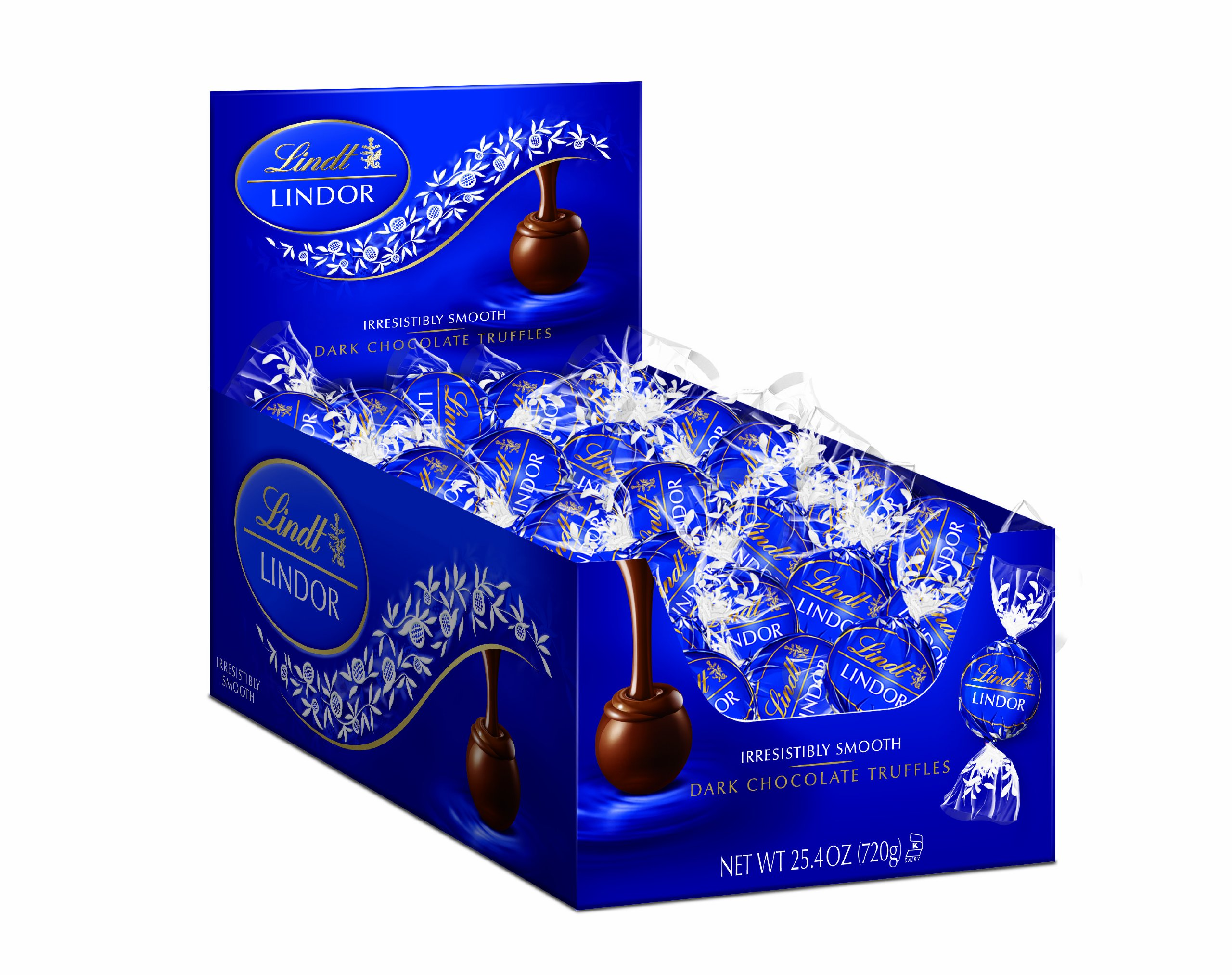 Lindt Chocolate Lindor Truffles, Dark Chocolate, 60 Count by Lindt
