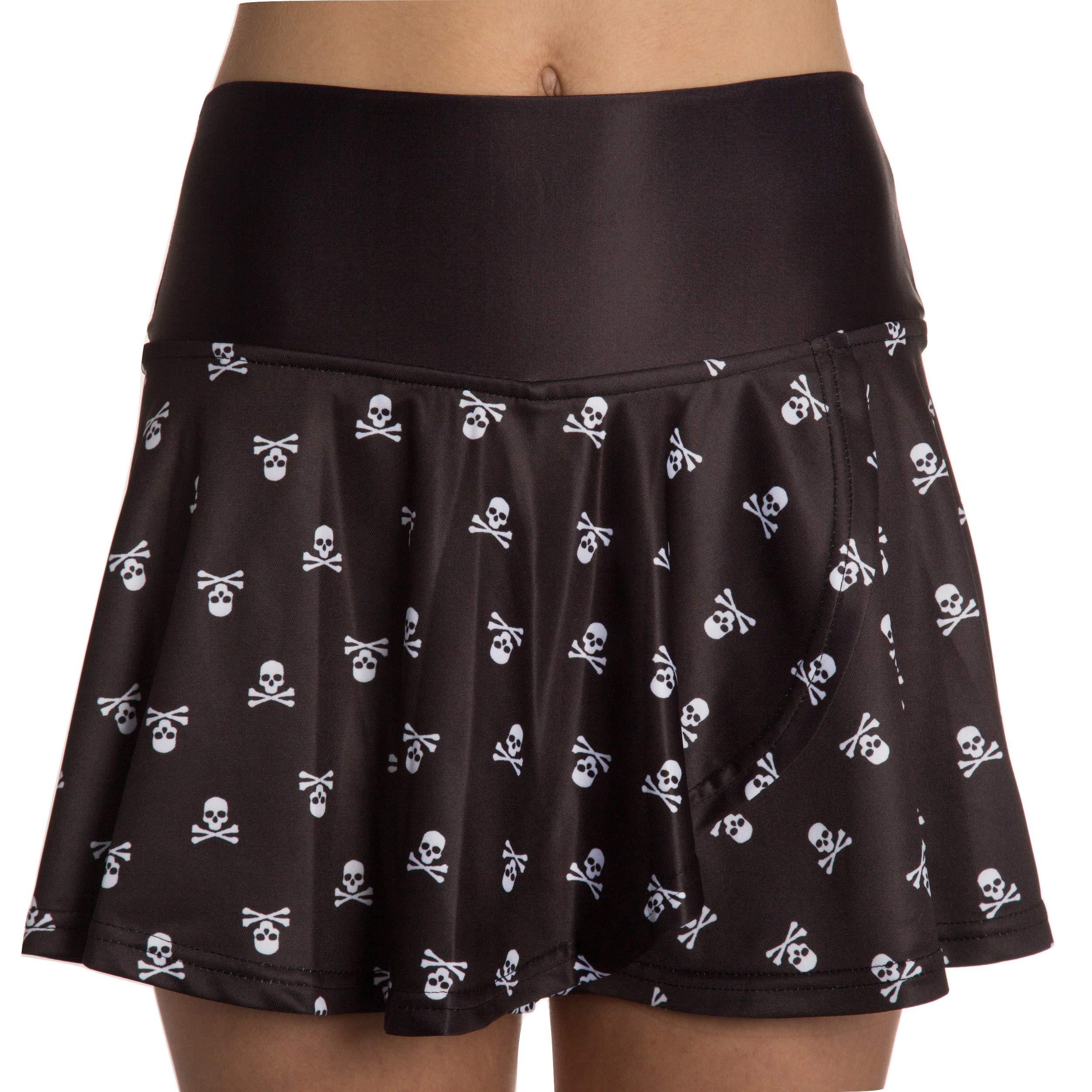 Faye+Florie Holly Tennis Skirt (Skull, X-Small)