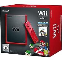 Nintendo Wii Mini + Mario Kart Wii Wifi Negro, Rojo - Videoconsolas (Wii, Negro, Rojo, Mario Kart, AV)