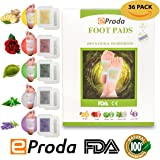 Foot Pads by eProda - FDA Certified 2 in 1 Upgraded 2018 Formula 5 Aromatherapy Rapid Foot Care 30 Pack Pain Relief Sleep Aid with 6 Pieces Nasal Strips - Better Than Cushions, Sleeve Metatarsal Pads