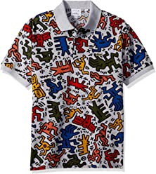 d2402346 Lacoste Men's S/S All Over Printed Mini Pique Polo Classic Fit