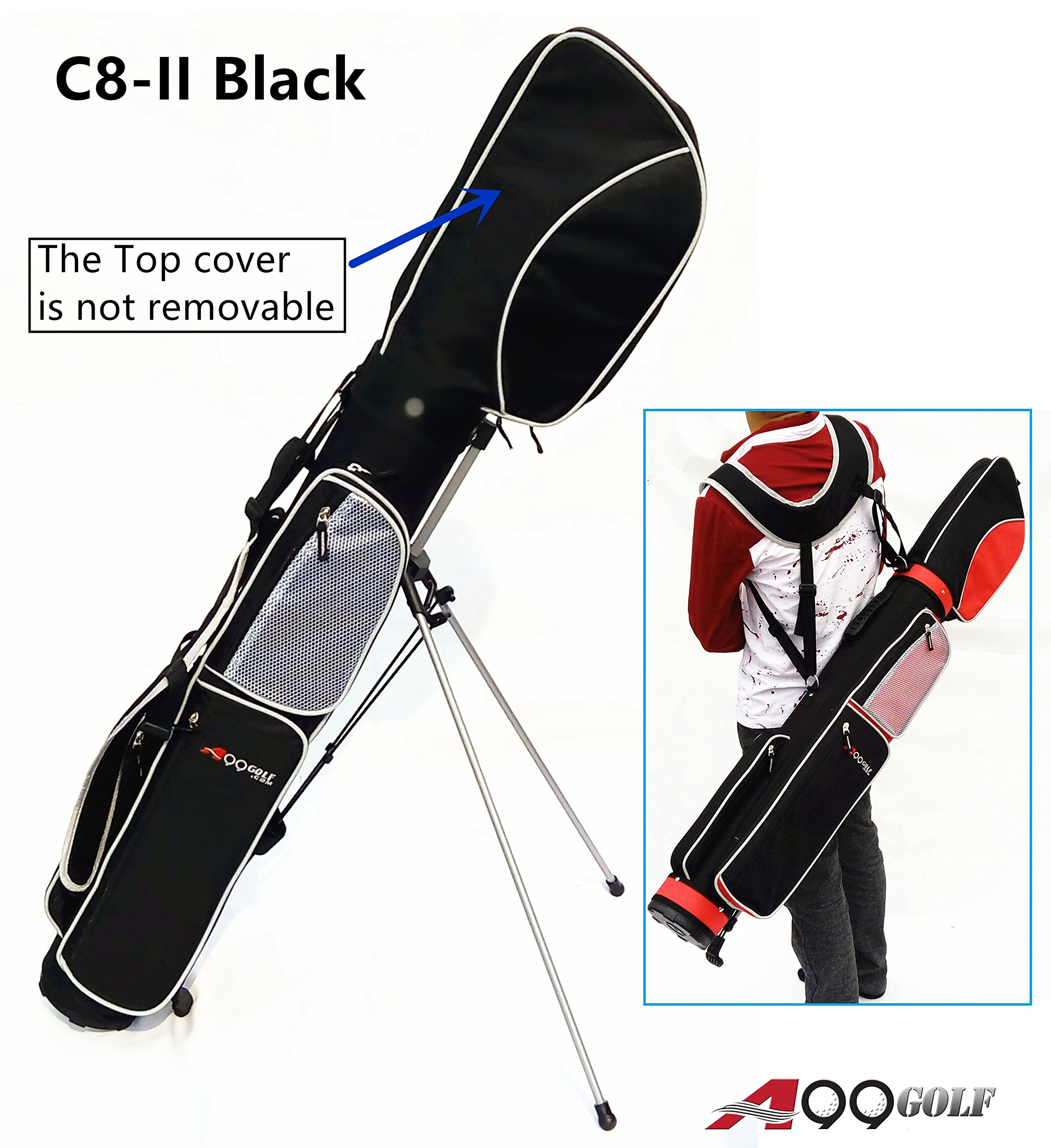 C8-II Golf Practice Range/sunday/stand/pencil/carry Bag (Black) by A99 Golf