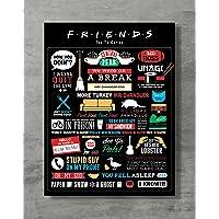 Anhiganbana Póster de Friends con Imagen de la Serie de televisión Friends Merch, tamaño estándar 45,72 x 60,96 cm