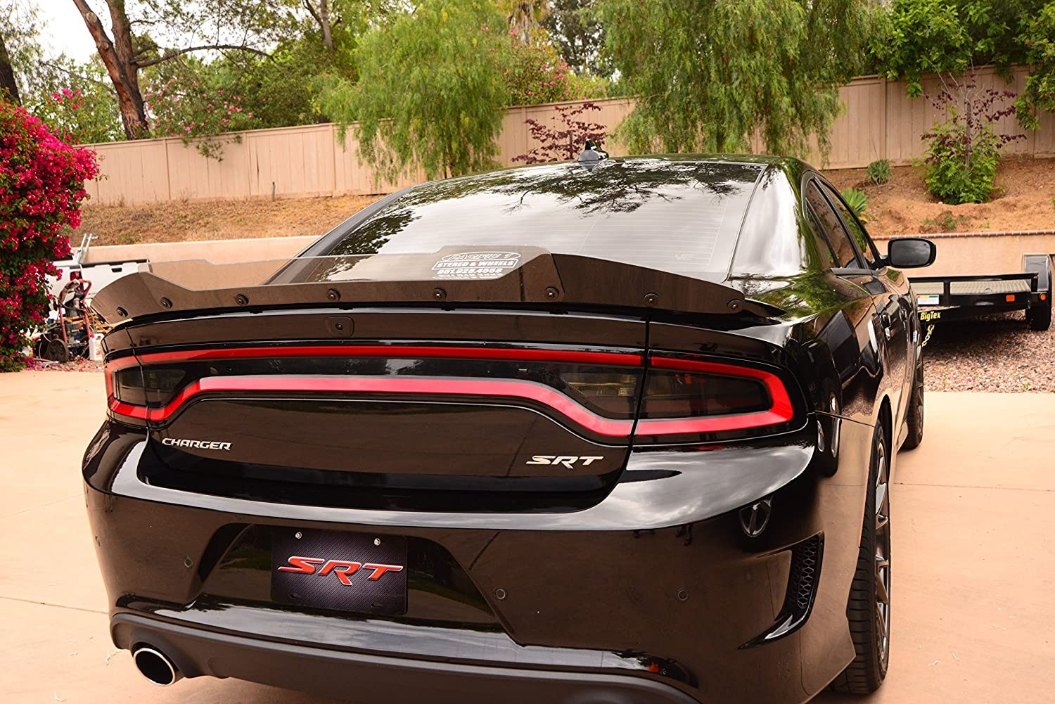 ZL1 Addons Wicker Bill 2 Piece Compatible with 15-19 Charger SRT Hellcat Scat Pack