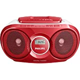 Philips AZ215R Portable CD Player with Radio, Jack (3.5 mm), Compact - Red
