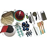 Complete Basic Kitchen Starter Set of Essential Tools and Gadgets - 32 Piece Set