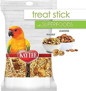 Kaytee 100540290 Avian Superfood Treat Stick Almond & Walnut, 5.5 Ounces, None