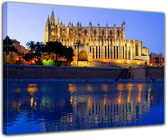 Bilderdepot24 Cuadros en Lienzo Catedral de Palma de Mallorca ...