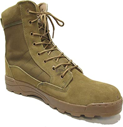 Brown Military Combat Boots