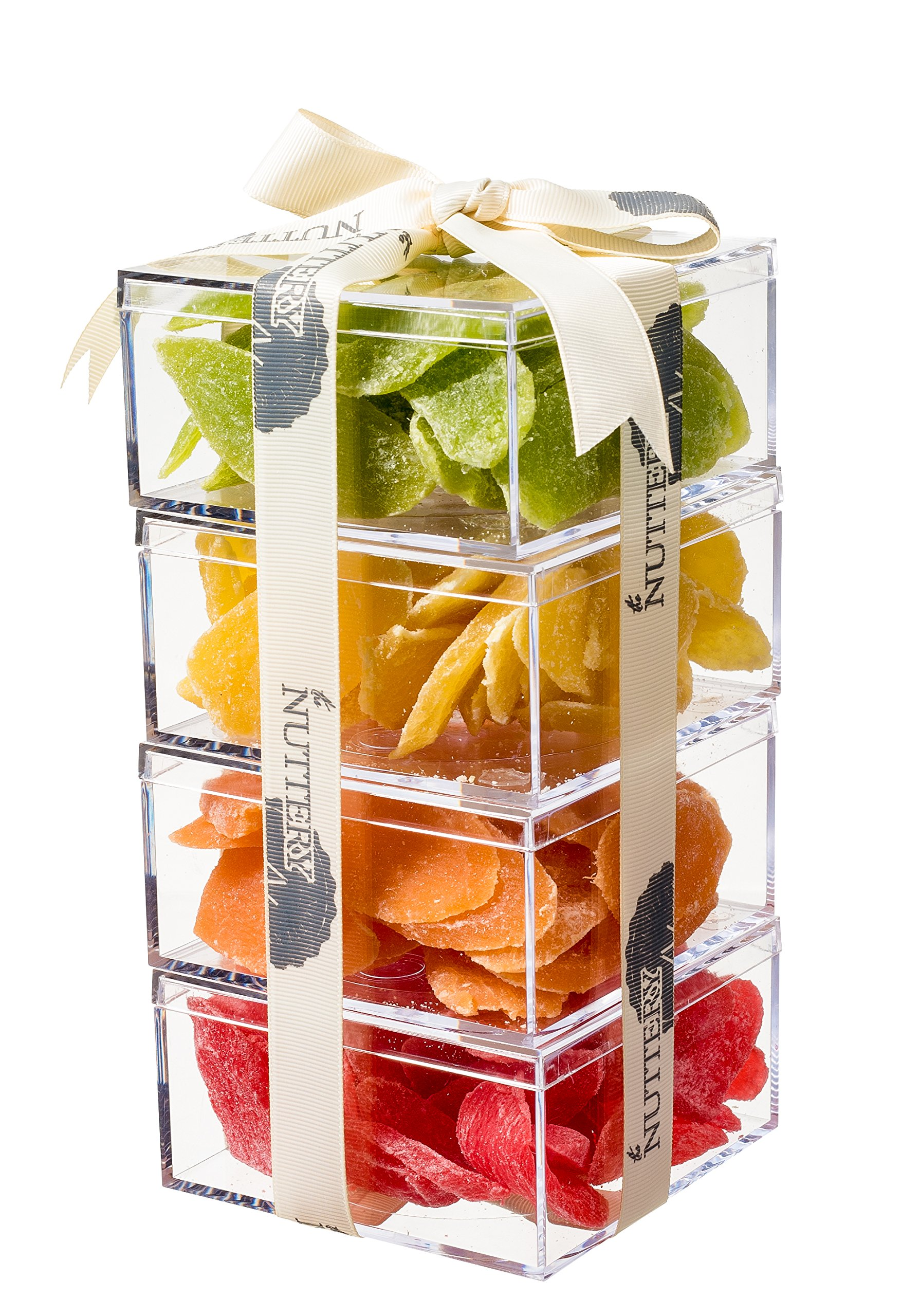 The Nuttery Premium Dried Fruit Gourmet Gift Tower ~ Strawberry ~ Cantaloupe ~ Kiwi ~ Pineapple ~ by The Nuttery NY