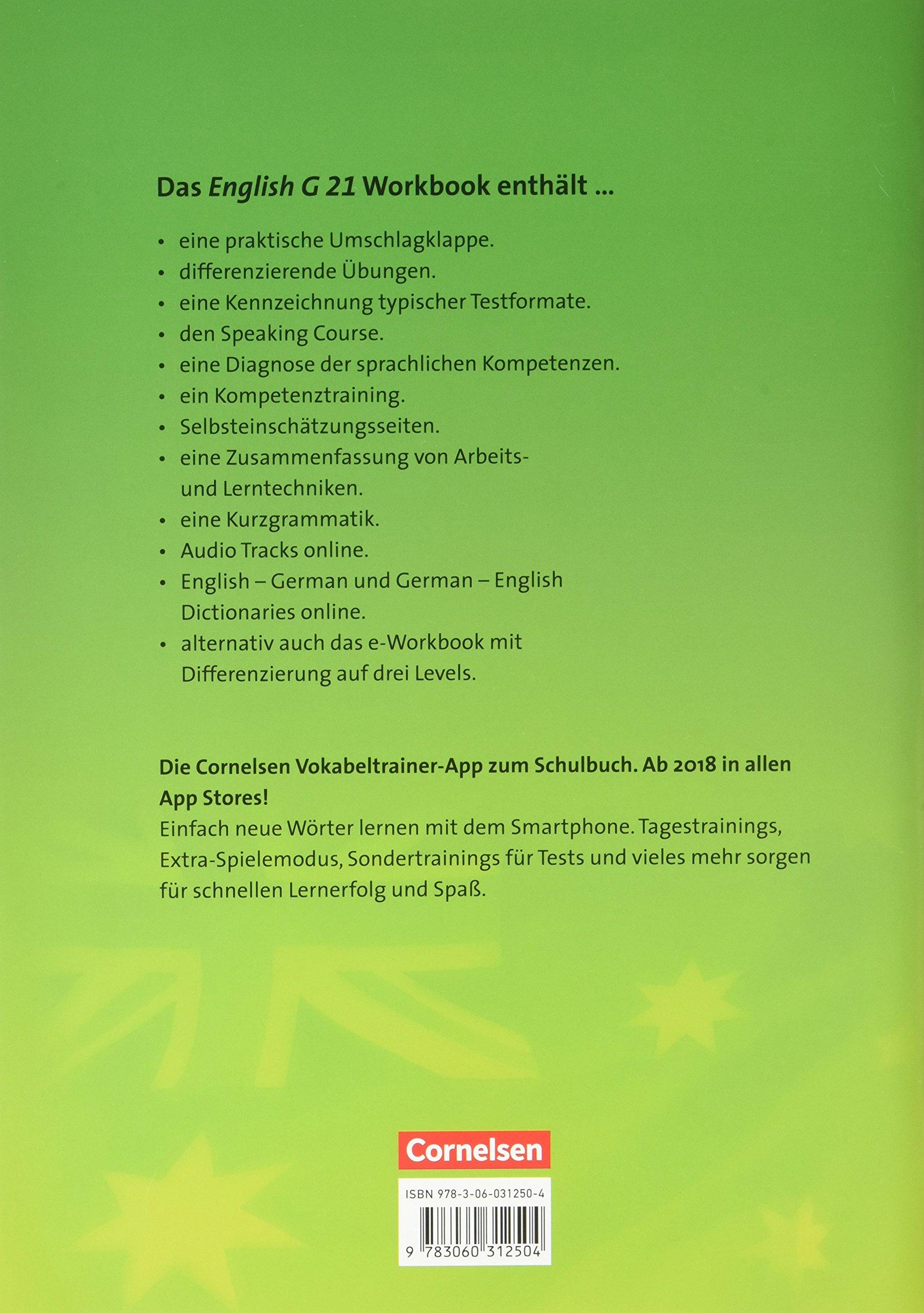 english g 21 d 5 9 schuljahr workbook mit cd 9783060312504 amazoncom books - Zusammenfassung English
