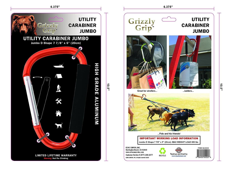 Grizzly Grip Jumbo Metallic Carabineer, Orange Echo Canyon Inc. GG-9022